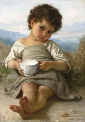 William Adolphe Bouguereau – Filiżanka mleka – reprodukcja