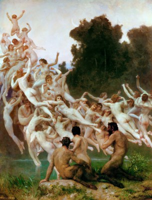 William Adolphe Bouguereau - obraz Oready (nimfy)
