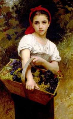 William Adolphe Bouguereau - obraz Powrót z winobrania